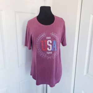 USA Size XL Vintage Style Graphic Worn Out Tee